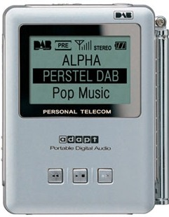 Perstel Adapt DR-101 portable pocket FM/DAB digital radio