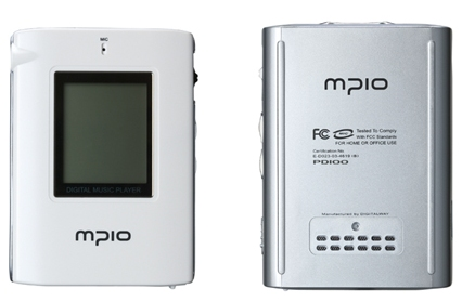 MPIO DAB digital radio handheld with MP3 recorder