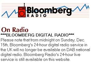 Bloomberg Radio notice