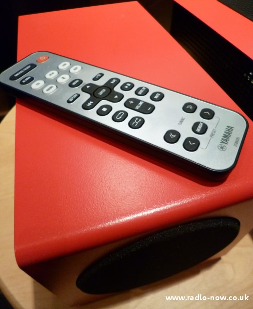 remote control and speakers