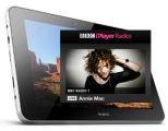 internet tablet running iPlayer for radio