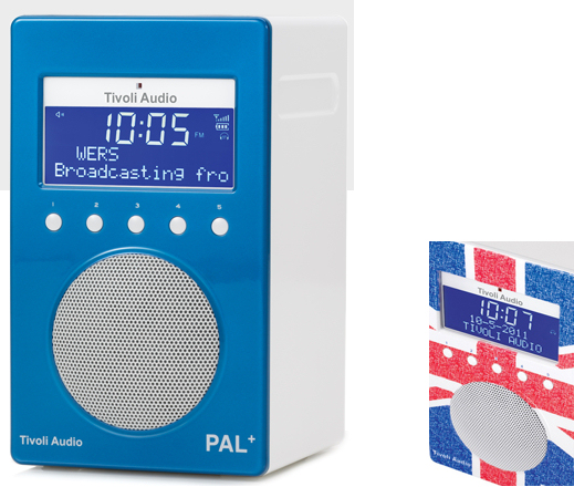 Tivoli PAL+ DAB and FM receiver in Union Jack livery