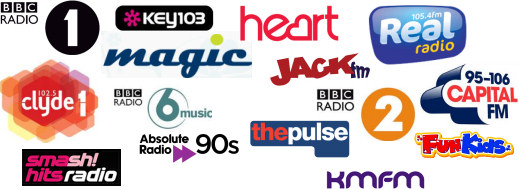 UK pop music radio stations and more...
