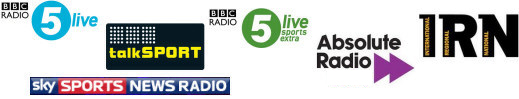 UK sport radio stations and reports