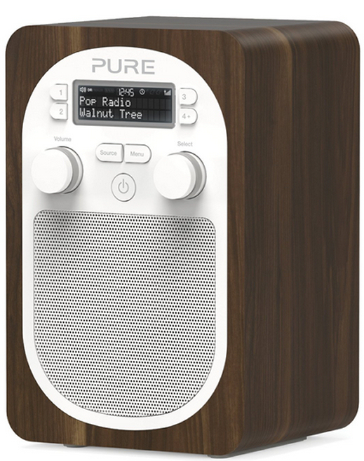 Pure Evoke D2 DAB and FM radio in Walnut finish