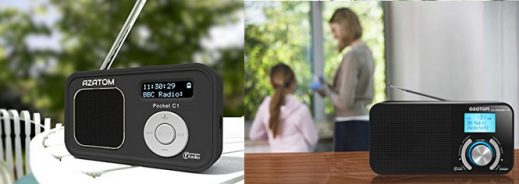 Azatom Pocket C1 and Classic P1 DAB radios with DAB+