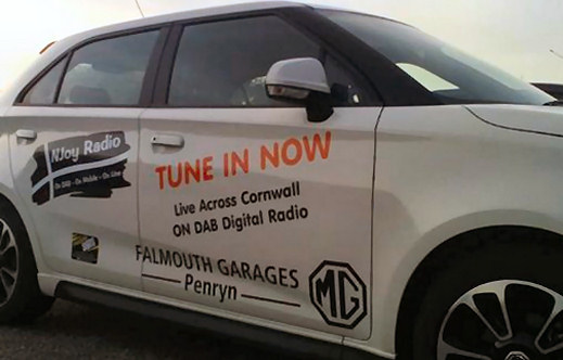 Njoy radio off DAB in Cornwall - vehicle