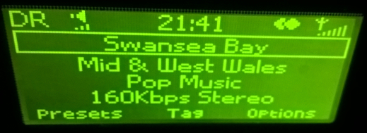 Swansea Bay Radio screengrab from Pure One Flow