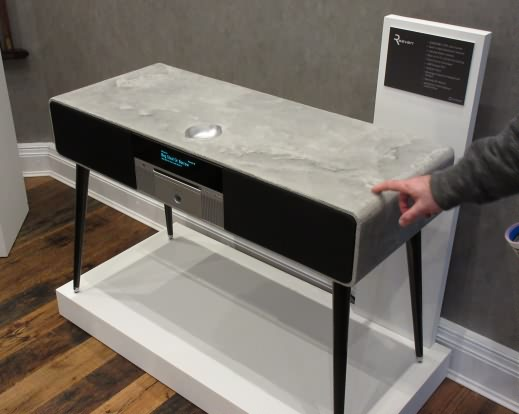 Ruark one-off polished concrete edition R7 radiogram